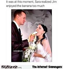 Funny Husband Memes - wife realizes husband likes the banana too much funny meme pmslweb