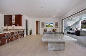 white oak hardwood flooring basement contemporary with cherry