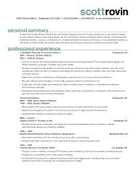 Best Profile Summary For Resume Good Profile Summary Resume Sample
