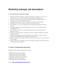 cover letter advertising manager job description advertising