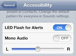 turn light on iphone set iphone camera led to flash on incoming calls and alerts