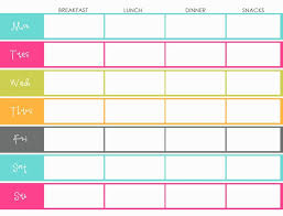 menu planners templates the best fitness meal plan template goodbuynow meal