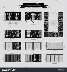 wardrobe walk closet furniture icon top stock vector 229922452