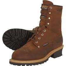 carolina men u0027s waterproof insulated logger boots u2014 8in model