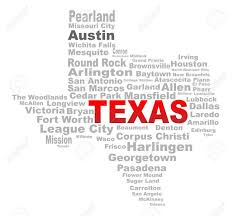 Arlington Tx Map A Texas Map Shape With The Text Texas And The Names Of The Major