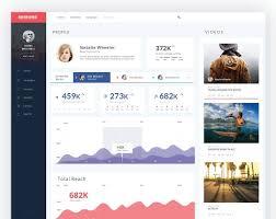 user profile design by dribbble user nick buturishvili