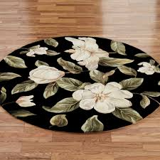 Black Round Rug Beautiful Round Area Rugs Black Flower Round Rug Wool Material Rug