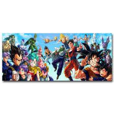 aliexpress buy dragon ball characters art silk poster