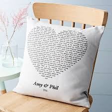 Customized Cushion Covers Personalised Song Cushion Cover By Vintage Designs Reborn