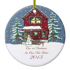 new home snowy ornaments keepsake ornaments zazzle