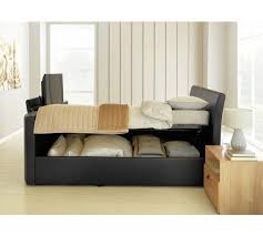Ottoman Tv Bed Buy Hygena Lamberto Kingsize Tv Ottoman Bed Black At Argos Co Uk