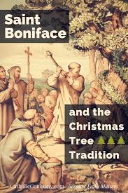 boniface and the christmas tree tradition
