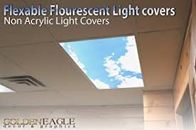 Cover Fluorescent Ceiling Lights Sky Clouds 2ft X 4ft Drop Ceiling Fluorescent Decorative Ceiling