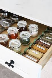 Spice Rack In A Drawer My Organized Spice Drawer The Inspired Room