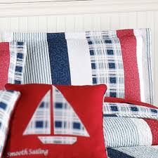 Oversized Quilted Bedspreads Hatteras Stripe Nautical Quilted Oversized Bedspread Bedding