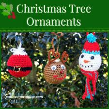 free crochet pattern tree ornaments pattern paradise