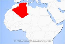 algeria map where is algeria located on the map