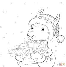 llama coloring page getcoloringpages com