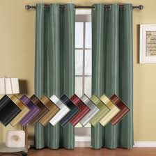 Curtain Panels Prairie Leafy Design Blackout Grommet Curtain Panels Single