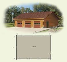 garage workshop log home and log cabin floor plan dream home