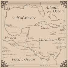 geographical map of guatemala central america map geography for central america and the