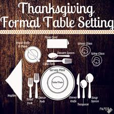 thanksgiving set thanksgiving table setting guide graphic thanksgiving table