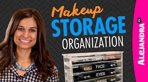 alejandra organization makeup storage organization youtube