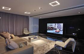 White Lounge Chair Design Ideas Home Theater Living Room Design With White Lounge Chair Plus Black