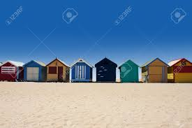 beautiful brighton beach with colorful houses in melbourne