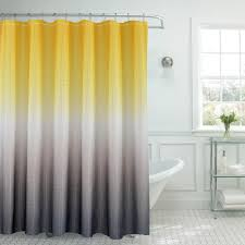 Grey And Yellow Bathroom by Ombre Waffle Weave 70 In W X 72 In L Yellow Grey Shower Curtain