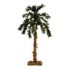 tabletop lighted palm tree tree shops andthat