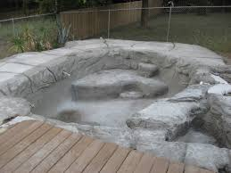 build your own pool this diy rock pool construction is the