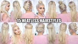 heatless hairstyles 15 braided back to school heatless hairstyles flawlessend com