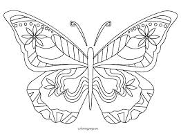 detailed butterfly coloring pages for adults butterflies coloring pages hard butterfly coloring pages images