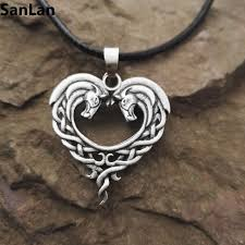 aliexpress heart necklace images Fantasy celtic horse lords necklace bronze celtic horse heart jpg