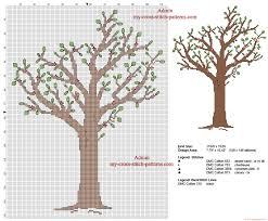 tree a free cross stitch pattern made with pcstitch software