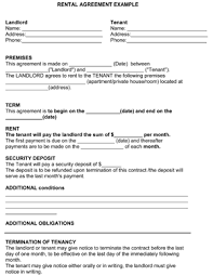 rental agreement template 8ws templates u0026 forms free