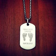 baby dog tags men s sterling silver flat edge dog tag necklace engravable