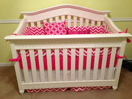 Pink Chevron Crib Bedding Pink And White Chevron Crib Bedding Nursery Inspiration