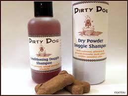 dirty dog organic conditioning natural shampoo and dry powder