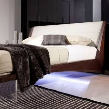 Floating Bedframe by Volterra Floating Bed W Lights Queen Vig Furniture Touch Of