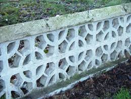 dundalk newry road perforated concrete block garden wall 2008