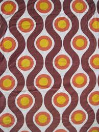 Retro 60s Bedroom Ideas Vintage 1960s 70s Fabric Retro Geometric Pattern From Germany