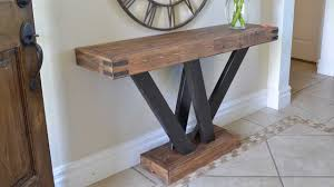 build a console table rustic 2x4 console table build 2x4andmore youtube