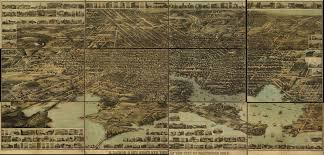 Map Of The World To Scale by Bird U0027s Eye View Of Baltimore In 1870 Ghosts Of Baltimore