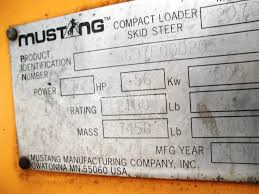 mustang manufacturing company inc mustang 2070 sale in wisconsin 437597
