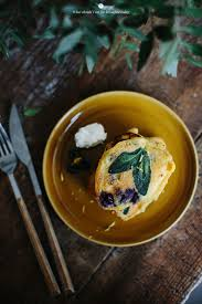Blueberry Pancake Recipe Corn Pancakes With Blueberries And Sage