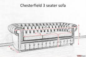 Chesterfield Sofa Price by 3 Seater Chesterfield Sofa Dimensions Sofa