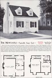 cape cod style home plans 1940 newcastle mid century cape cod kit houses