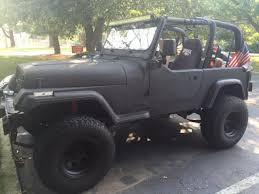 jeep rhino liner 94 jeep wranger yj black with rhino line paint lifted no rust